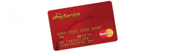 Платежные карты ePayService MasterCard