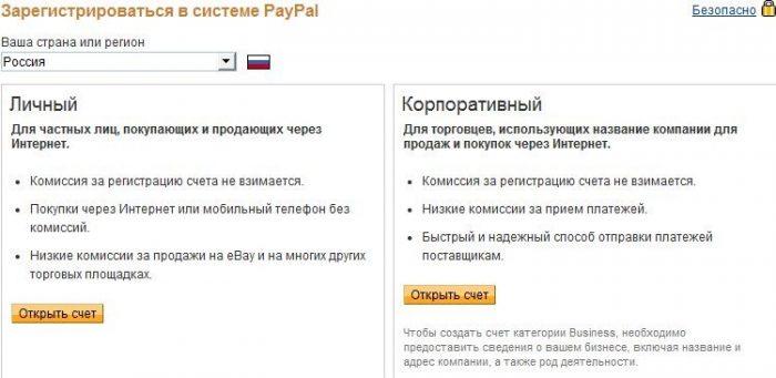 Как открыть счет в paypal