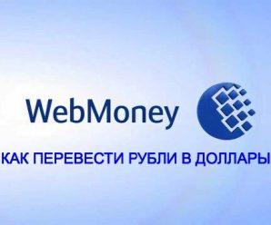 Как перевести рубли в доллары на Webmoney — инструкция